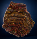 Lapidary Art:Carvings, Tiger Iron Free-form Slab. Ord Ranges, Pilbara, WesternAustralia. ...