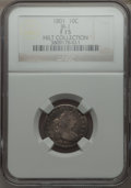 Early Dimes, 1801 10C JR-1, R.4, Fine 15 NGC....