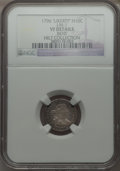 Early Half Dimes, 1796 H10C LIKERTY, V-1, LM-1, R.3 -- Bent -- NGC Details. VF....