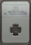 Early Half Dimes, 1797 H10C 15 Stars, V-2, LM-1, R.3 -- Repaired -- NGC Details.VF....