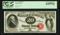 Large Size:Legal Tender Notes, Fr. 147 $20 1880 Legal Tender PCGS Very Choice New 64PPQ.. ...
