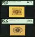 Fractional Currency:First Issue, Fr. 1231SP 5¢ First Issue Wide Margin Pair PCGS Superb Gem New68PPQ.. ... (Total: 2 notes)