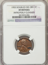 1955 1C Doubled Die Obverse, FS-101 -- Improperly Cleaned -- NGC Details. XF....(PCGS# 37910)