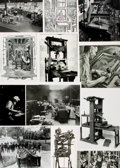 Books:Prints & Leaves, [Printers and Printing]. Archive of Approximately Fifty-SixPhotographs and Images Relating to the History of Printers andPri...