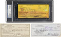 Movie/TV Memorabilia:Documents, The Three Stooges: Three Checks Signed by Larry Fine, Moe Howard,and Curly Joe DeRita. ...