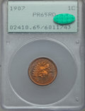 Proof Indian Cents, 1907 1C PR65 Red PCGS. CAC....