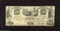 Obsoletes By State:Tennessee, Memphis, TN- The Farmers & Merchants Bank $50 February 20, 1854 This note is new but shows a couple a hinge marks at upper ...