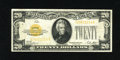 Small Size:Gold Certificates, Fr. 2402 $20 1928 Gold Certificate. Fine+.. No pinholes or edge tears inhabit this evenly circulated $20 Gold....