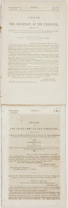 Books:Americana & American History, [American History]. Report of the Secretary of the Treasury,Communicating a Report of the Superintendent of the Survey ...(Total: 2 Items)