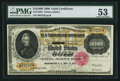 Large Size:Gold Certificates, Fr. 1225h $10,000 1900 Gold Certificate PMG About Uncirculated 53.. ...