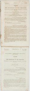 Books:Americana & American History, [General Land Office]. Letter from the Secretary of theTreasury, Transmitting the Annual Report of the Commissioner of ...(Total: 2 Items)