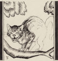 Mainstream Illustration, Willy Pogany (Hungarian/American, 1882-1955). Cheshire Cat,Alice's Adventures in Wonderland, Chapter 6 page 97 storyillu...