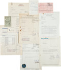 Music Memorabilia:Documents, Star-Club Archive of Artist Documents, Including The Beatles, BrianEpstein and Others (Germany, 1960s)....