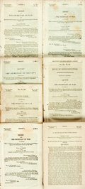 Books:Americana & American History, [American History]. Group of Seven Reports and Letters of theSenate and Congress. Various publishers and dates, circa 1850....(Total: 7 Items)