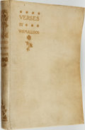 Books:Literature Pre-1900, W. H. Mallock. LIMITED. Verses. London: Hutchinson &Co., 1893....