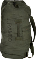 "Movie/TV Memorabilia:Costumes, A Duffle Bag from ""Rambo"" (aka ""Rambo 4"")...."