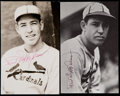 Baseball Collectibles:Photos, Paul Daffy Dean Signed Photographs Lot of 2....