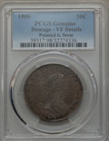 Early Half Dollars, 1806 50C Pointed 6, Stem, O-115, R.1, -- Damage -- PCGS Genuine. VFDetails. NGC Census: (2/26). PCGS Population (0/11). ...