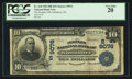 National Bank Notes:North Carolina, Salisbury, NC - $10 1902 Date Back Fr. 618 The Peoples NB Ch. # (S)9076. ...