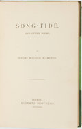 Books:Literature Pre-1900, Philip Bourke Marston. Song-Tide and Other Poems. Boston:Roberts Brothers, 1871....