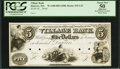 Obsoletes By State:Massachusetts, Danvers, MA - Village Bank $5 G32 Proof. ...