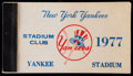 Baseball Collectibles:Tickets, 1977 New York Yankees Season Ticket Book....