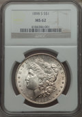 Morgan Dollars: , 1898-S $1 MS62 NGC. NGC Census: (442/1349). PCGS Population (634/2866). Mintage: 4,102,000. Numismedia Wsl. Price for probl...