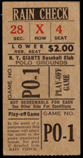 Baseball Collectibles:Tickets, 1951 New York Giants vs. Brooklyn Dodgers Playoff Game TicketStub....