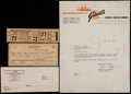 Baseball Collectibles:Tickets, 1957 New York Giants Final Game at Polo Grounds Full Ticket....