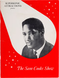 Music Memorabilia:Autographs and Signed Items, Sam Cooke & Others Signed Tour Program (1960s)....