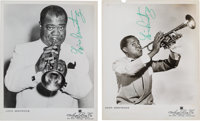 Louis Armstrong - Set Of Two Signed Promotional Photos