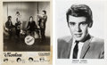 Music Memorabilia:Autographs and Signed Items, Monkees/Davy Jones Set Of Two Signed Promo Photos (Circa 1960s)....