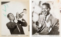 "Music Memorabilia:Autographs and Signed Items, Nat ""King"" Cole/Louis Armstrong Signed Promotional Photos(1959)...."