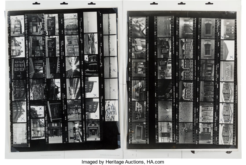 The Beatles: Two Large Format Contact Sheets for Locations