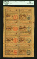 Colonial Notes:Georgia, Georgia September 10, 1777 $1-$2-$3-$4-$5-$6-$7-$8 Uncut Sheet PCGSApparent Very Fine 30.. ...