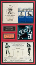 Music Memorabilia:Autographs and Signed Items, Frank Sinatra, Dean Martin, Joey Bishop, and Joe DiMaggio SignedBoxing Display (1965)....