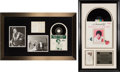 Music Memorabilia:Autographs and Signed Items, Patsy Cline Signed Photo and Decca Promo Card in Framed Displayswith Period Memorabilia.... (Total: 2 Items)