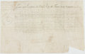 Autographs:Non-American, French Land Indenture in the Reign of Louis XIV. Manuscript onvellum, dated September, 1707. ...