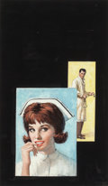 Pulp, Pulp-like, Digests, and Paperback Art, Rudy Nappi (American, 1923-2015). Nurse and Doctor, probablepaperback cover. Gouache on board. 16 x 9.25 in. (sight). S...