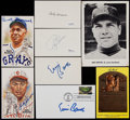 Baseball Collectibles:Others, Baseball Greats Signed Memorabilia Lot of 8....
