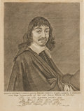 Books:Prints & Leaves, [René Descartes]. [Frans Hals]. Engraved Portrait of Descartesafter a Design by Hals. [N.p., n.d., circa 1655]. ...
