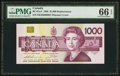Canadian Currency: , BC-61aA $1000 1988 Replacement Note EKX Prefix. ...