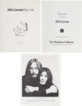 "Music Memorabilia:Memorabilia, Beatles - John Lennon ""Bag One"" Art Exhibition Catalog (New York:Lee Nordness Galleries, 1970)...."