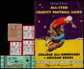 Football Collectibles:Tickets, 1935-74 College Football All Star Game Program and Tickets Lot of 6....