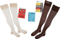 Music Memorabilia:Memorabilia, Three Pairs of Beatles Nylon Stockings (UK, Holland, and Italy, 1960s)....