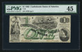 Confederate Notes:1862 Issues, T45 $1 1862 PF-1 Cr. 342A. ...