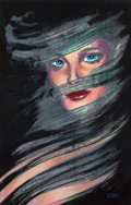 Pulp, Pulp-like, Digests, and Paperback Art, Frank Kelly Freas (American, 1922-2005). She, frontistpiecepreliminary, 1991. Gouache on mounted color print. 16.75 x 1...