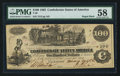 Confederate Notes:1862 Issues, T39 $100 1862 PF-2.. ...