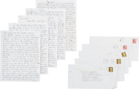 """Beatles - A Group Of Handwritten Letters From Norman """"Hurricane"""" Smith Recounting The Beatles' First Abbey Roa..."""