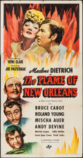 """Movie Posters:Romance, The Flame of New Orleans (Universal, 1941). Three Sheet (41"""" X 78.5""""). Romance.. ..."""